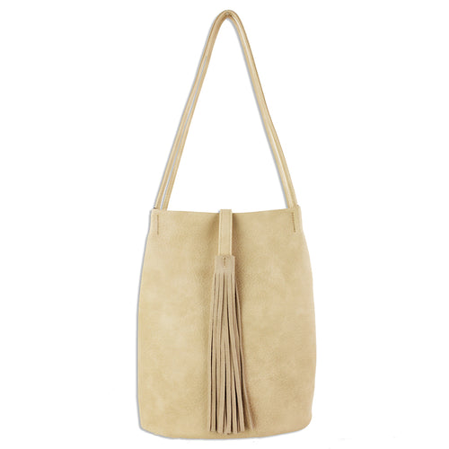 STREET LEVEL Skinny Strap Shoulder Bag With Long Tassel