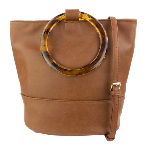 STREET LEVEL Acetate Hoop Handle Tote Bag