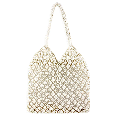 STREET LEVEL Crochet Shoulder Bag