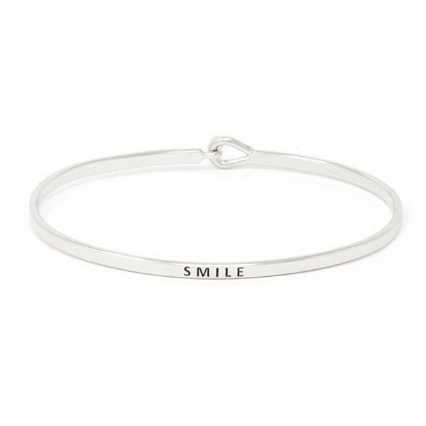SMILE Inspirational Message Bracelet