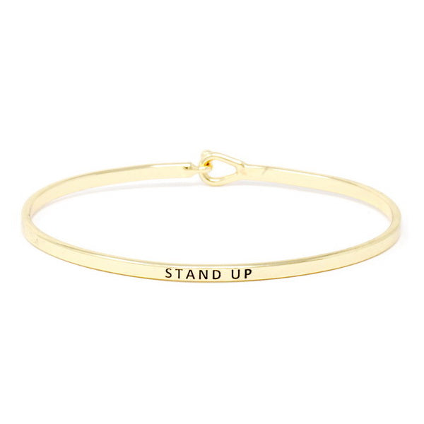 STAND UP Inspirational Message Bracelet