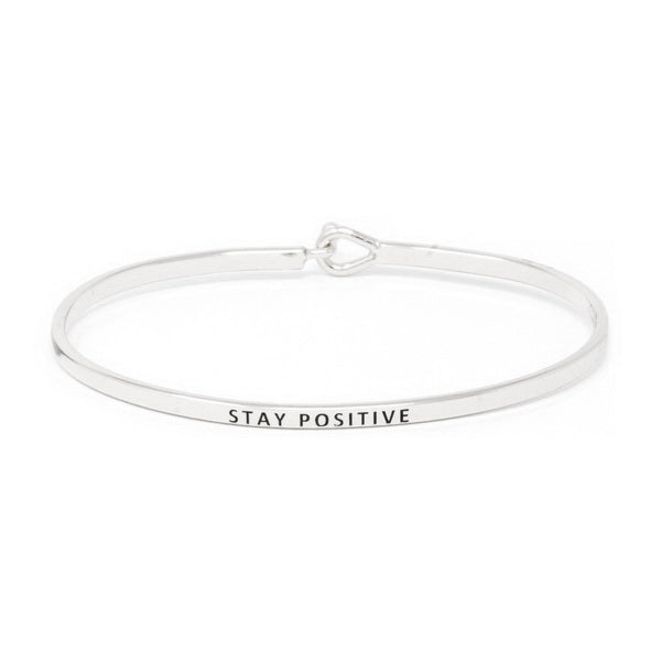 STAY POSITIVE Inspirational Message Bracelet