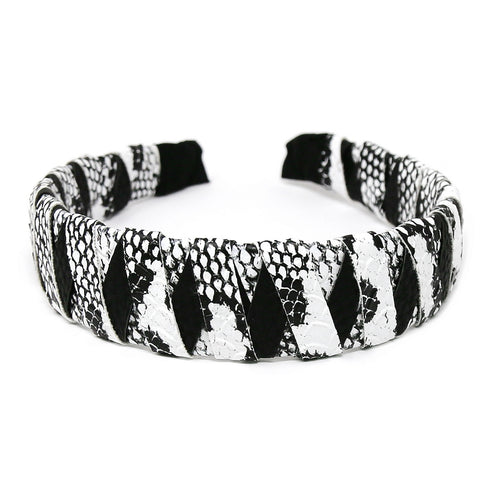 Animal Print Leather Wrapped Headband