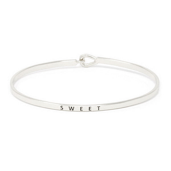 SWEET Inspirational Message Bracelet