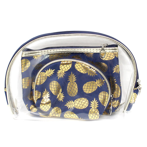 Pineapple Foil Printed Pouch Bag Set