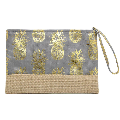 Pineapple Foil Printed Clutch Bag