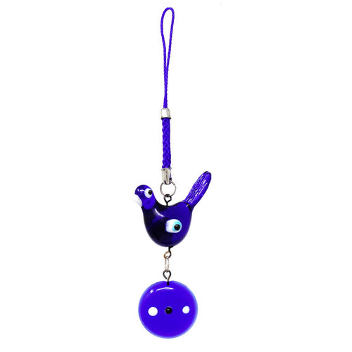 Evil Eye Bird Keychain Charm