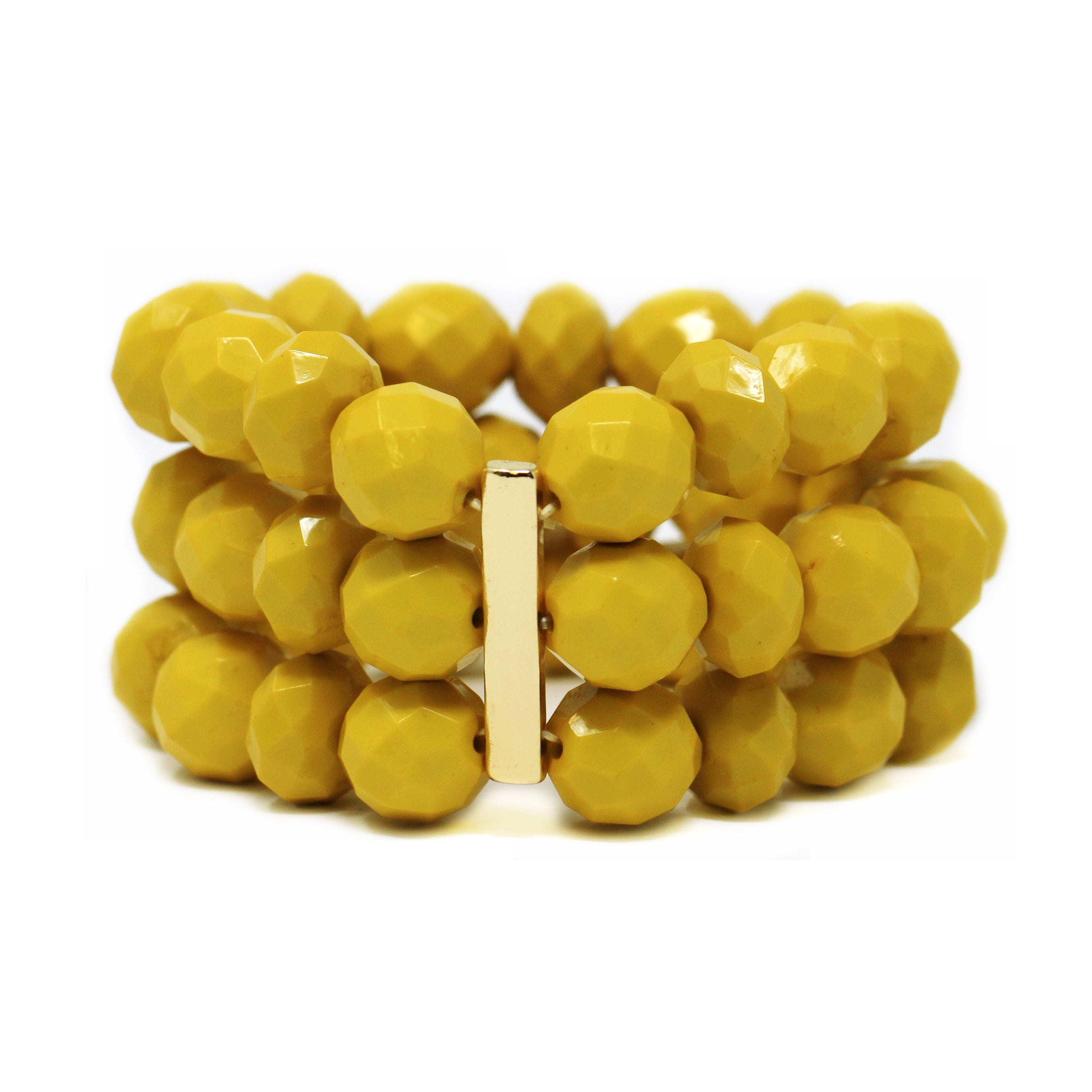 Bon Bon Trilpe Strand Metal Bar Stretch Bracelet
