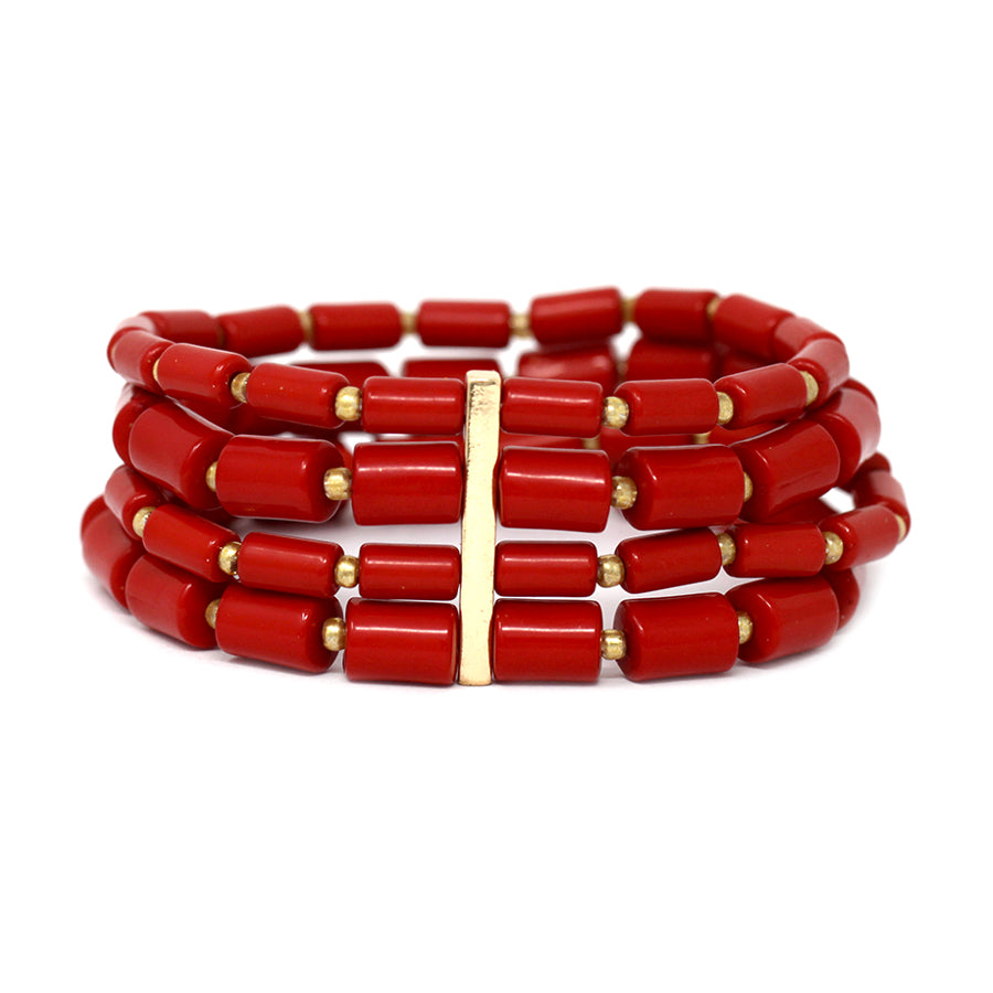 Cylinder Beaded Multi Strands Bracelet