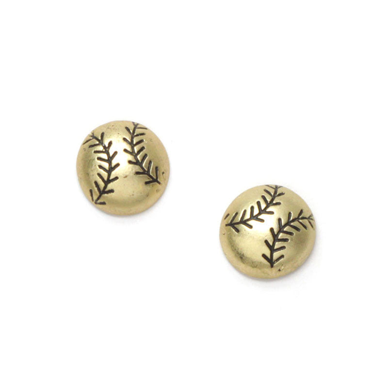 Baseball Mini Studs Earrings