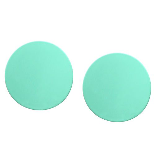Rubber Coated Curved Disc Stud Earrings