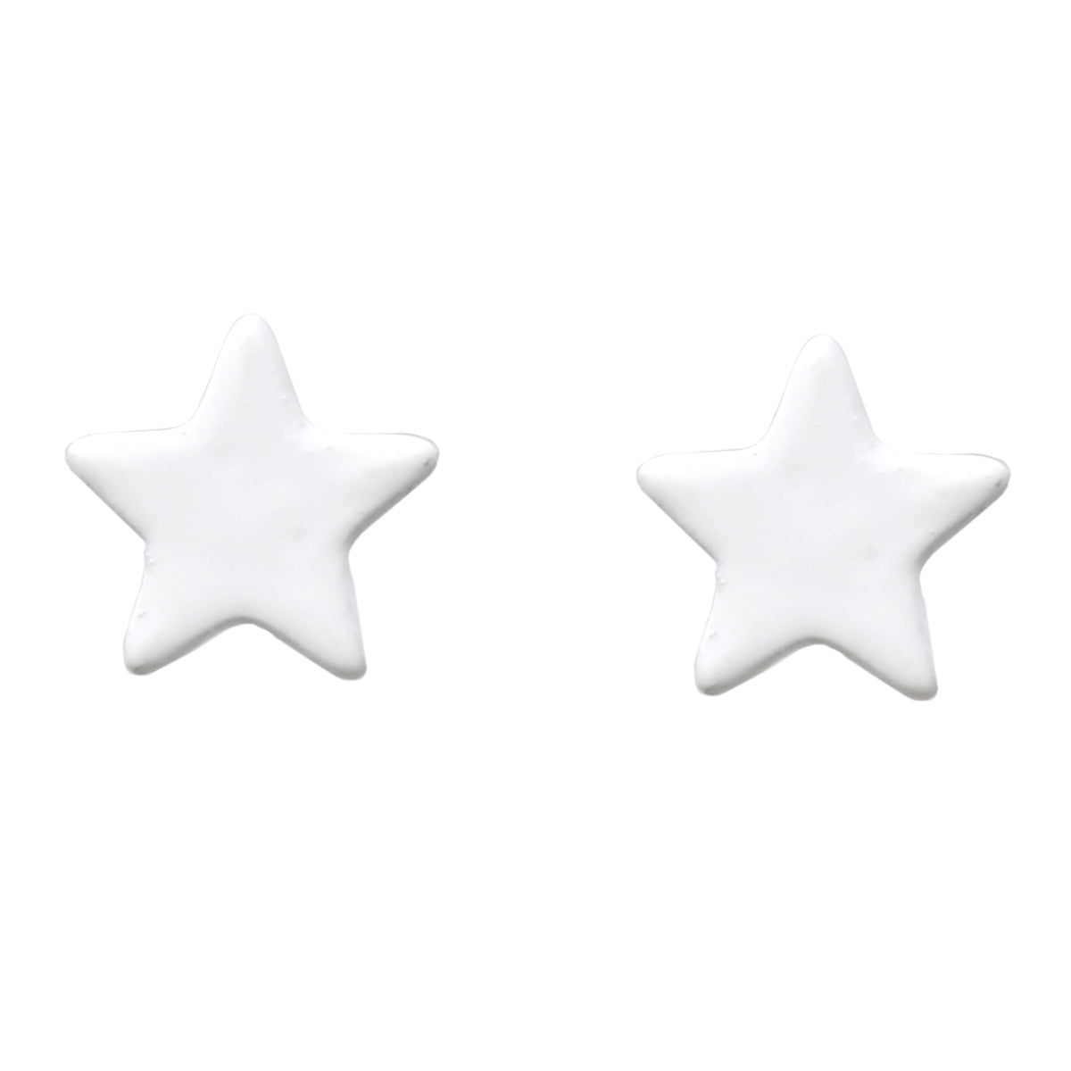 Color Coated Metal Star Stud Earrings