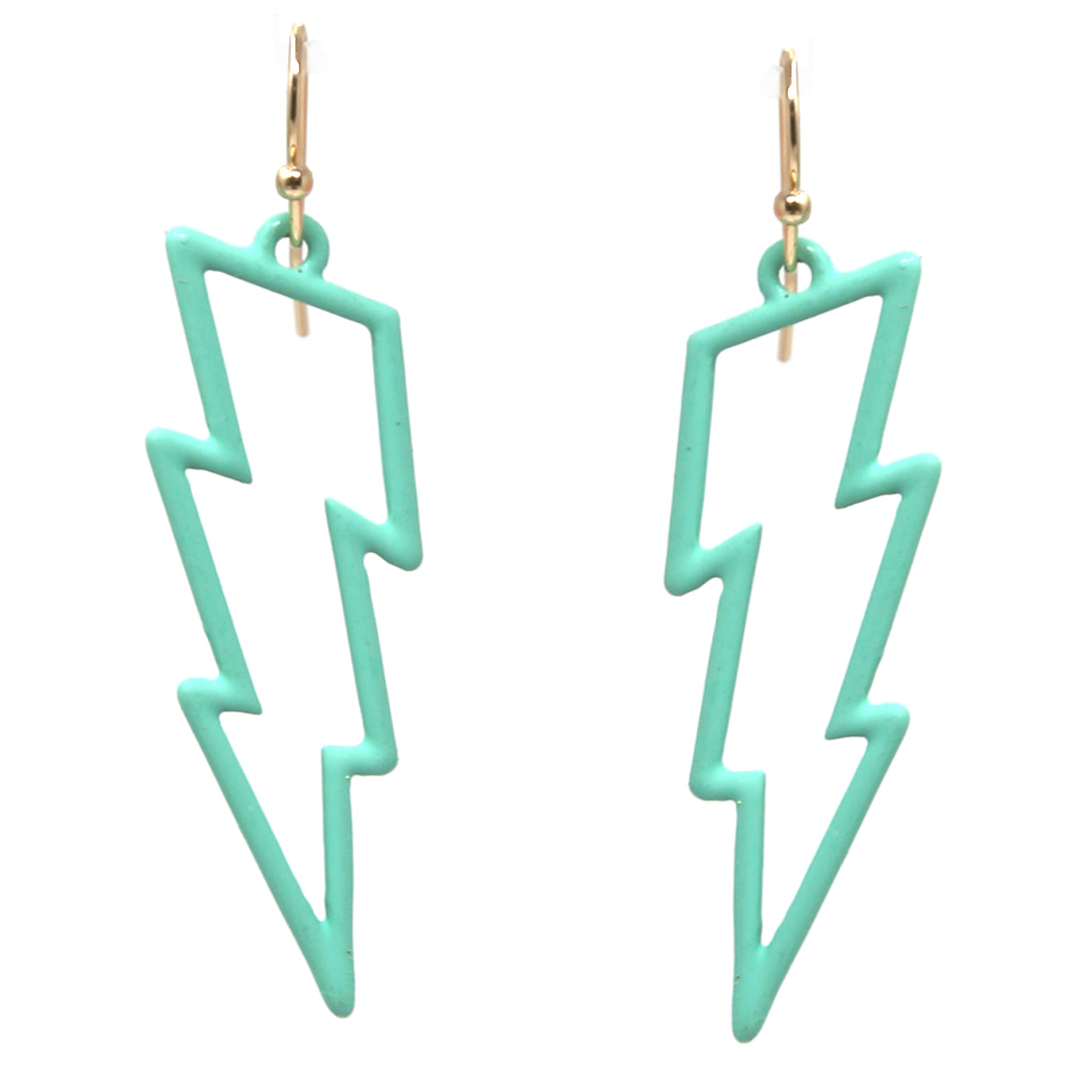 Color Coated Metal Thunder Drop Earrings