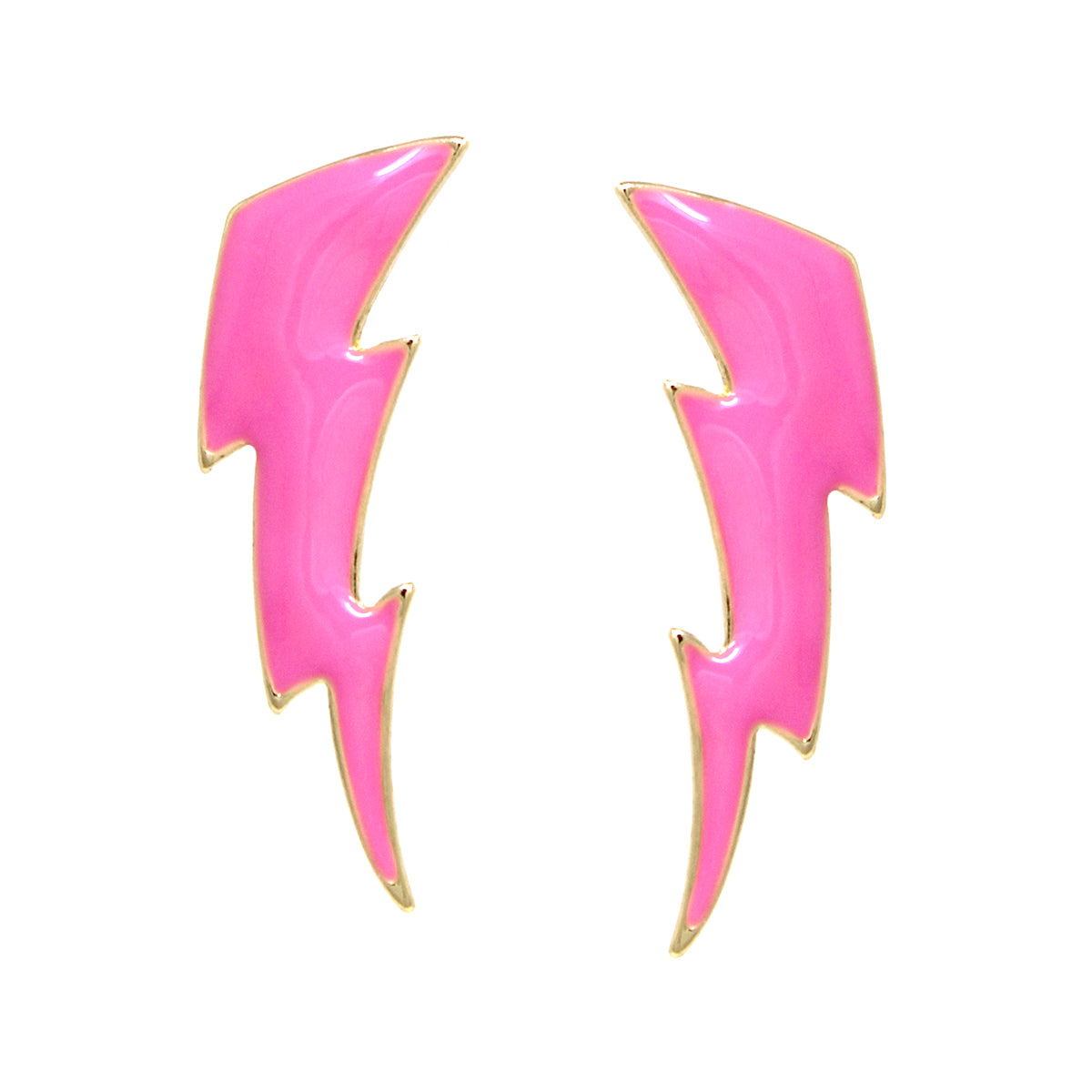 Enamel Glazed Thunder Stud Earrings