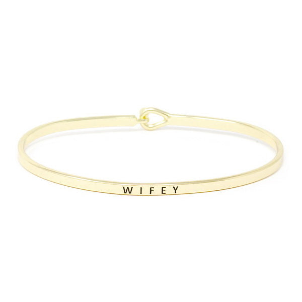 WIFEY Inspirational Message Bracelet