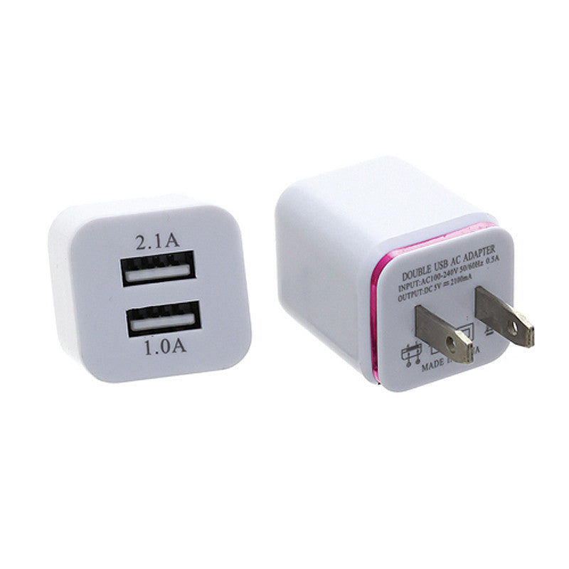 2 Port Square Wall Charger