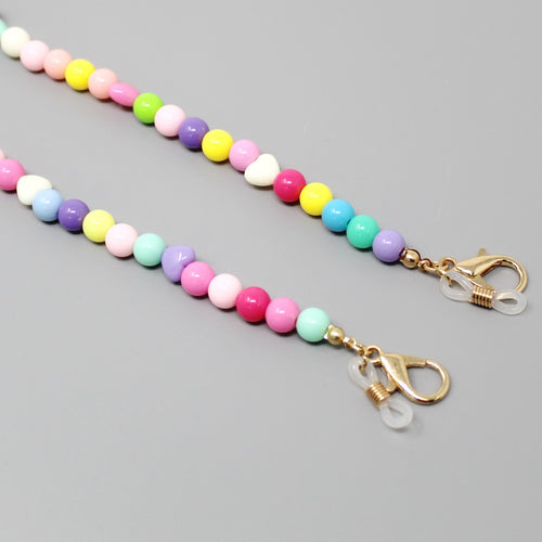 Multicolor Heart Beaded Mask / Sunglasses Chain