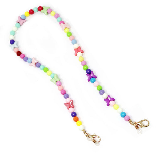 Multicolor Butterfly Beaded Mask / Sunglasses Chain