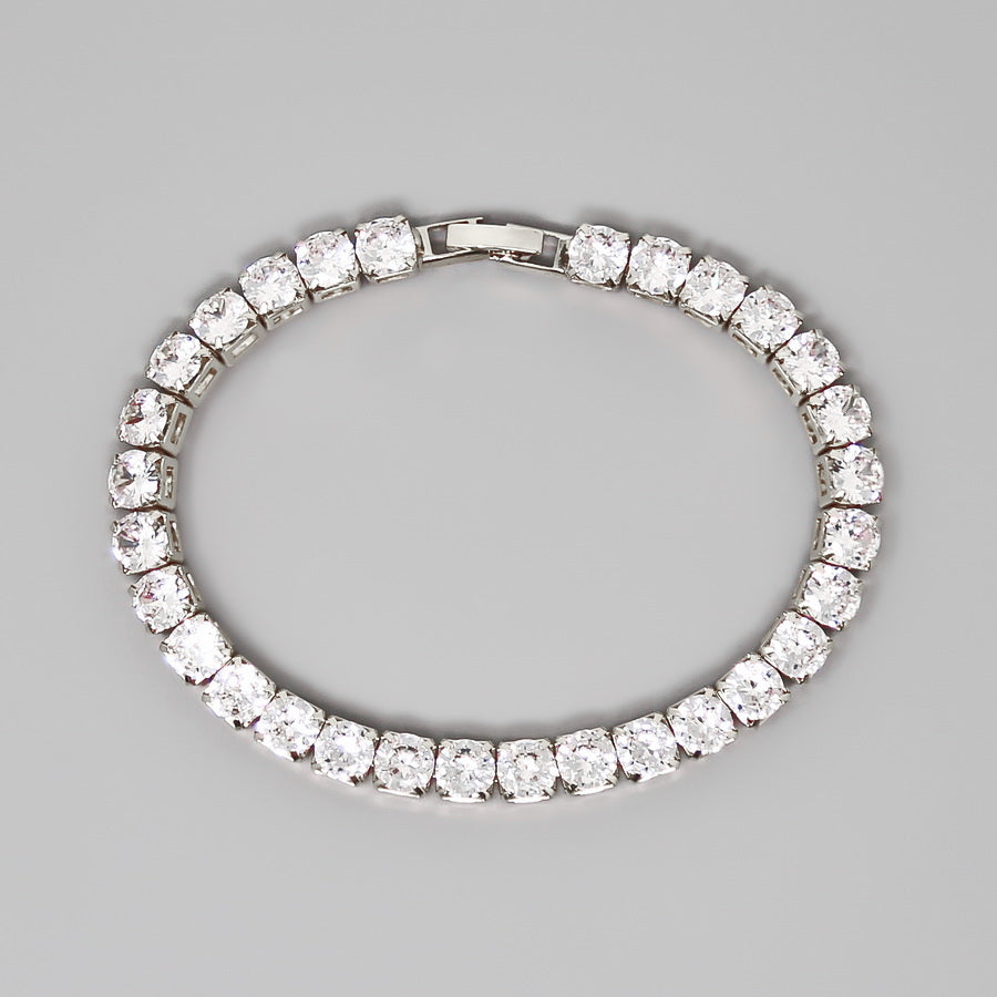 Round Cut Cubic Zirconia Tennis Bracelet (6 mm)