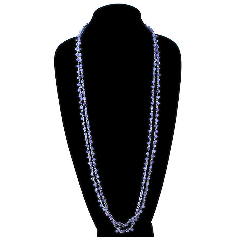 Glass Beads Loop Necklace