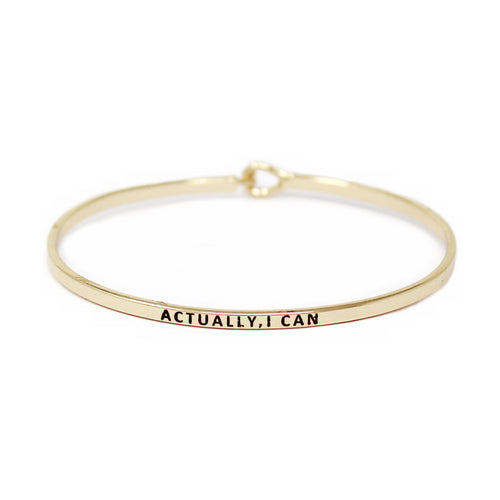 ACTUALLY, I CAN Inspirational Message Bracelet