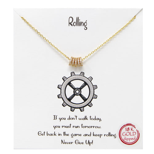 Tell Your Story: Rolling Pendant Simple Chain Necklace