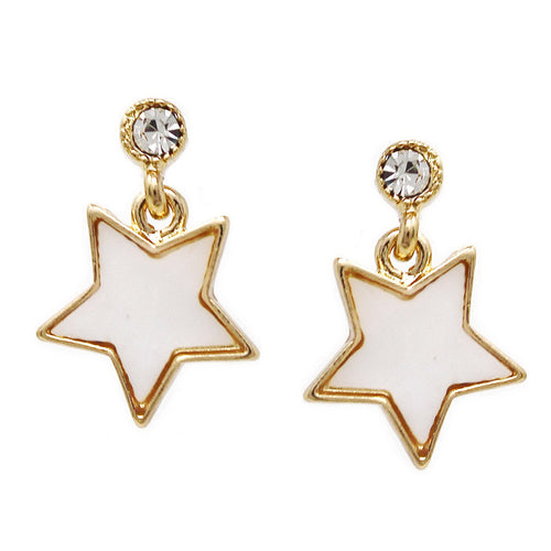 Mother Of Pearl Star Drop Earrings
