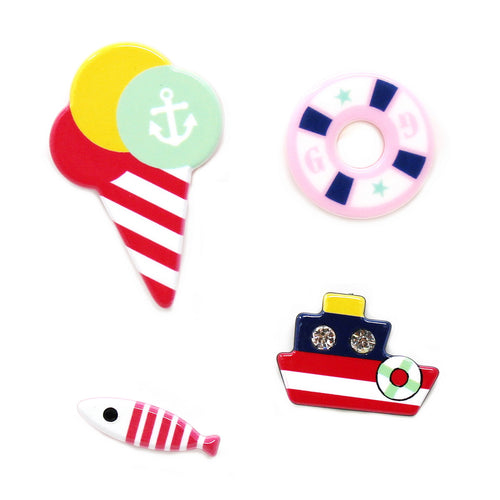 Nautical Acrylic Mini Pin Set