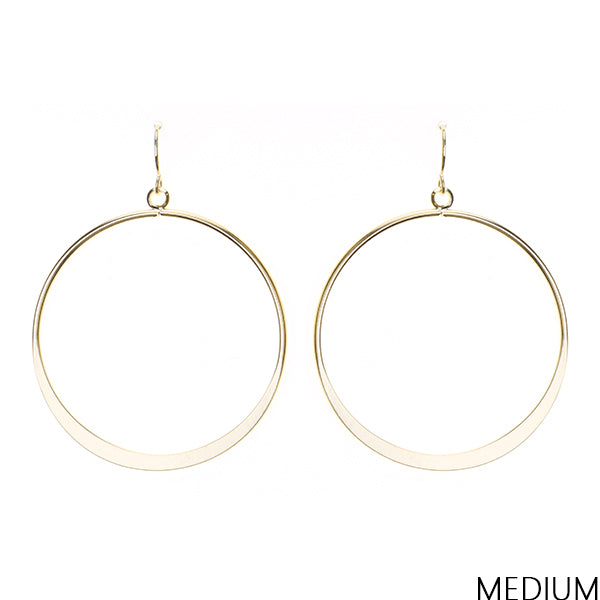 Lightweight Urban Brass Earrings