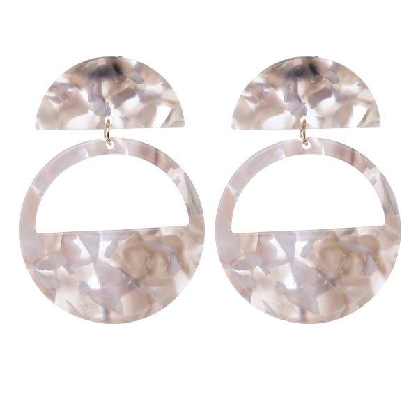 Lightweight Geometric Cutout Tortoise Drop Earrings