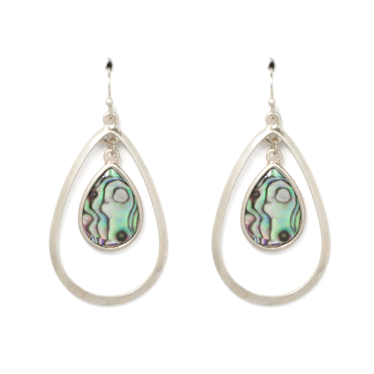 Celluloid Color Blended Oval Earrings