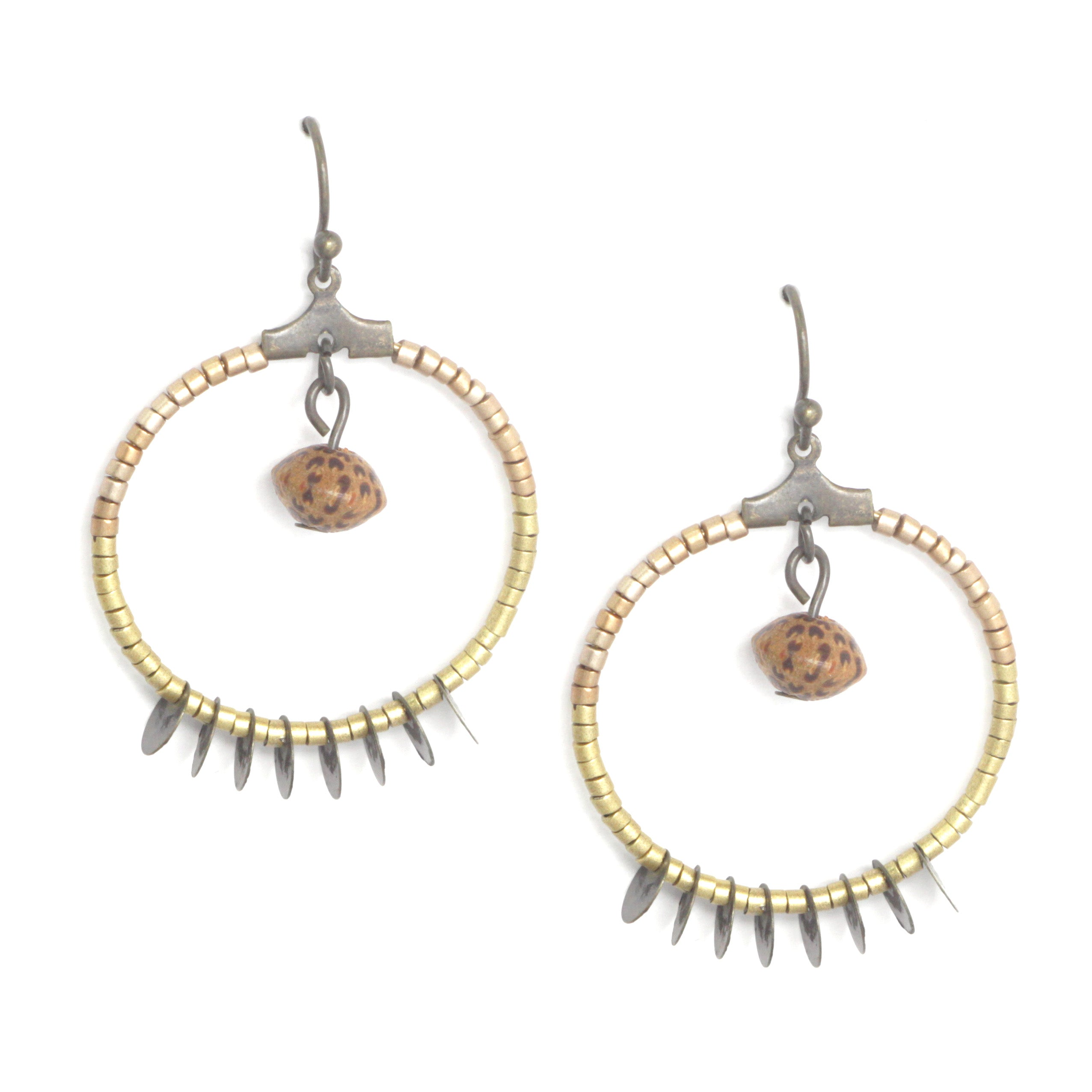 Geometric Ring Drop Earrings