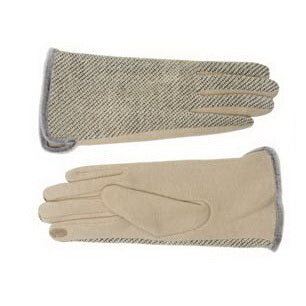 Two Tone Polyester Gloves With Fleece Lining