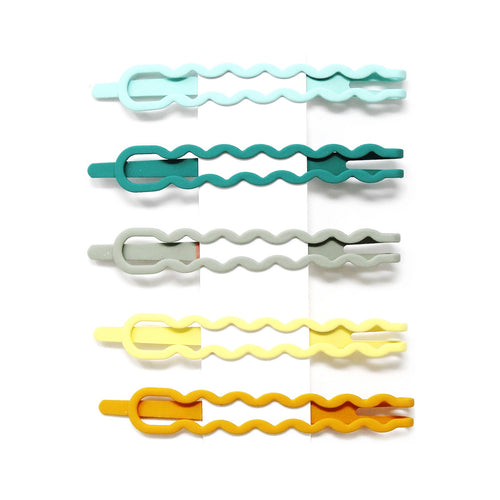 Multi Color Wavy Snap Clip Set (Small)