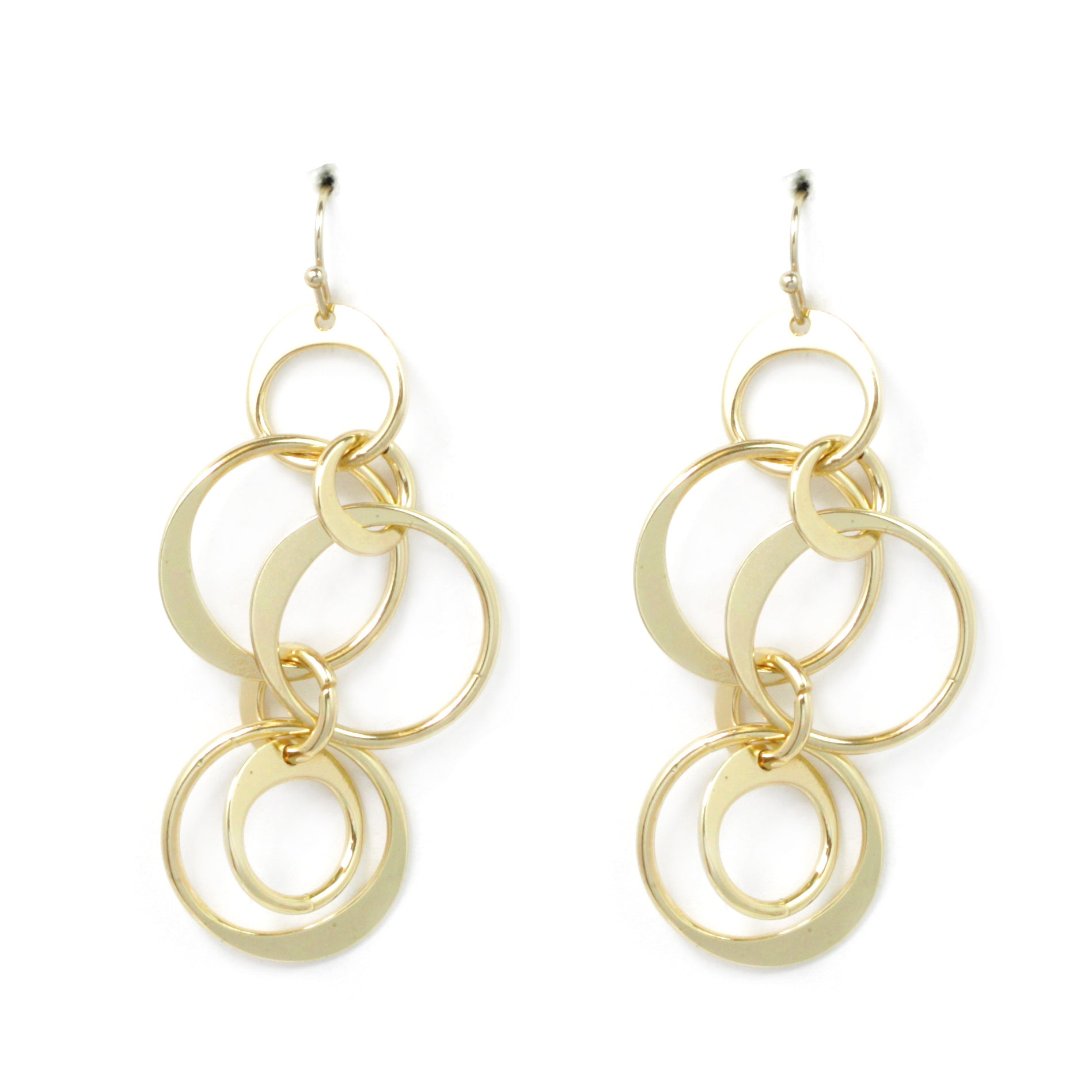 Geometric Metal Hoop Earrings
