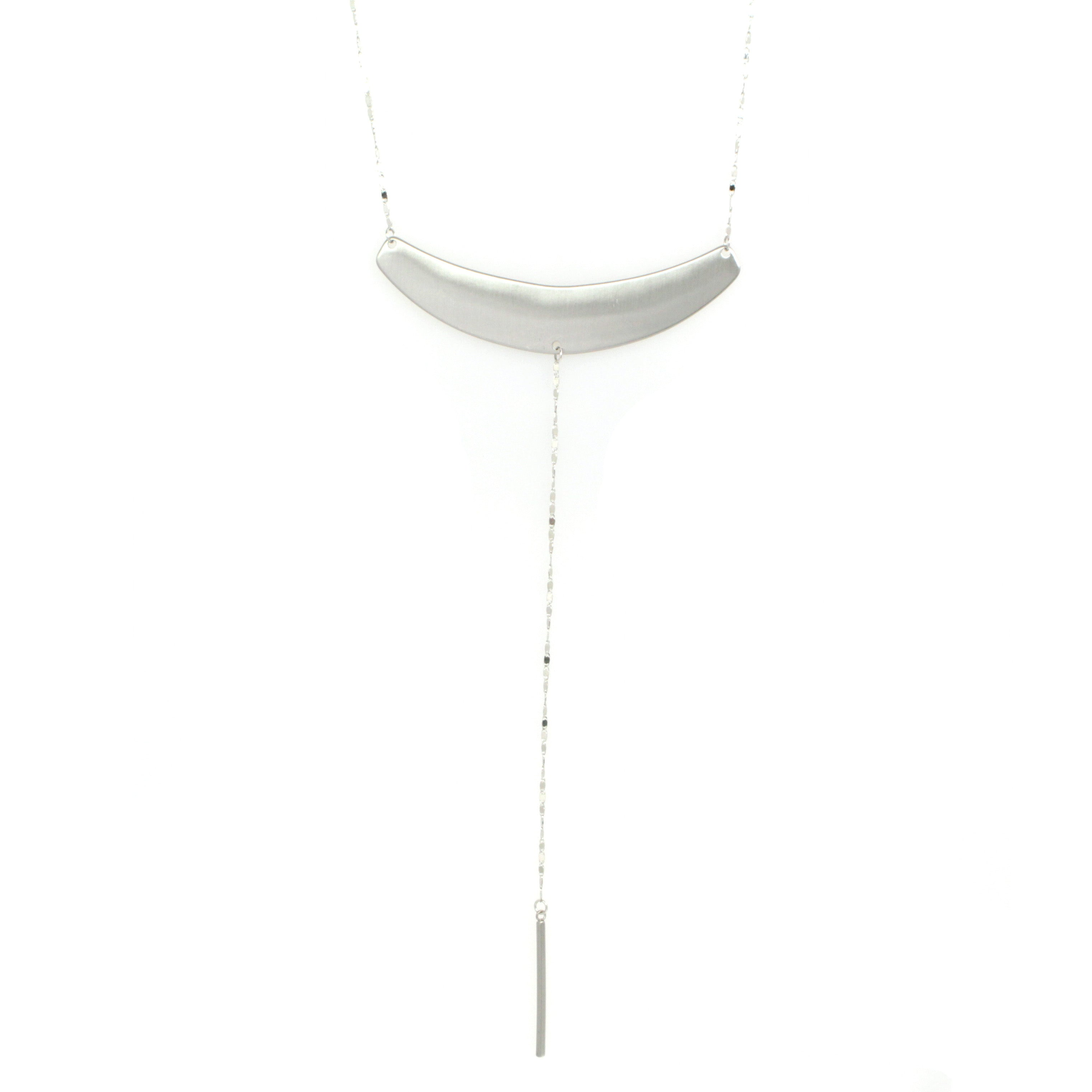 Oversized Metal Bar Necklace