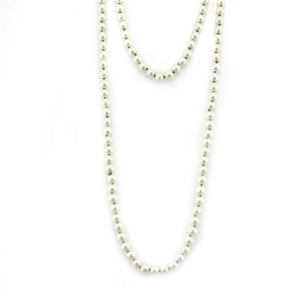 Natural Stone  Long Necklace 60""