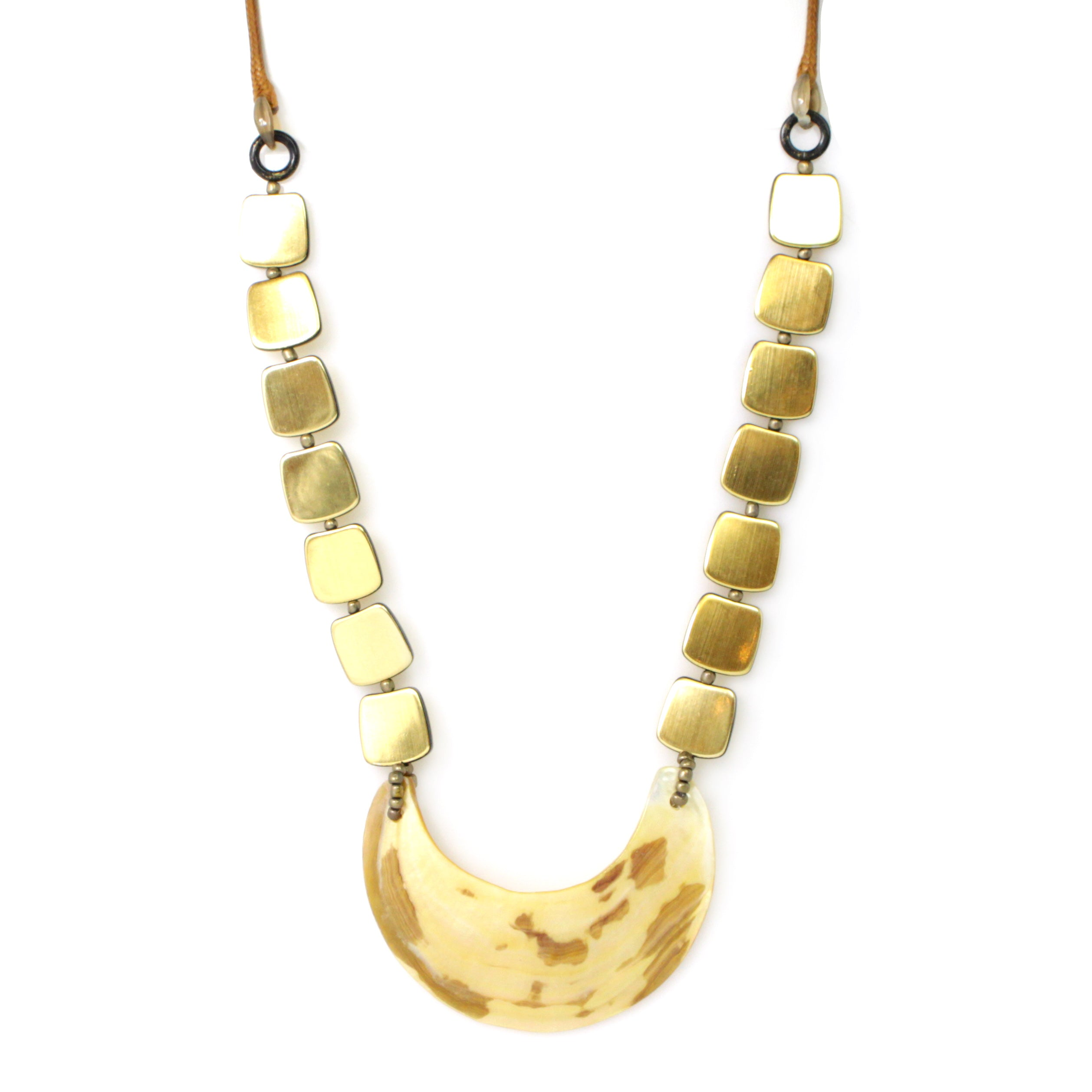 Celluloid Color Link Necklace