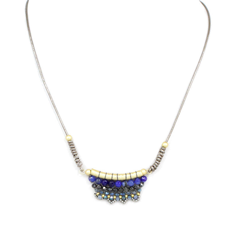Semi Precious Stone Pendant Statement Necklace