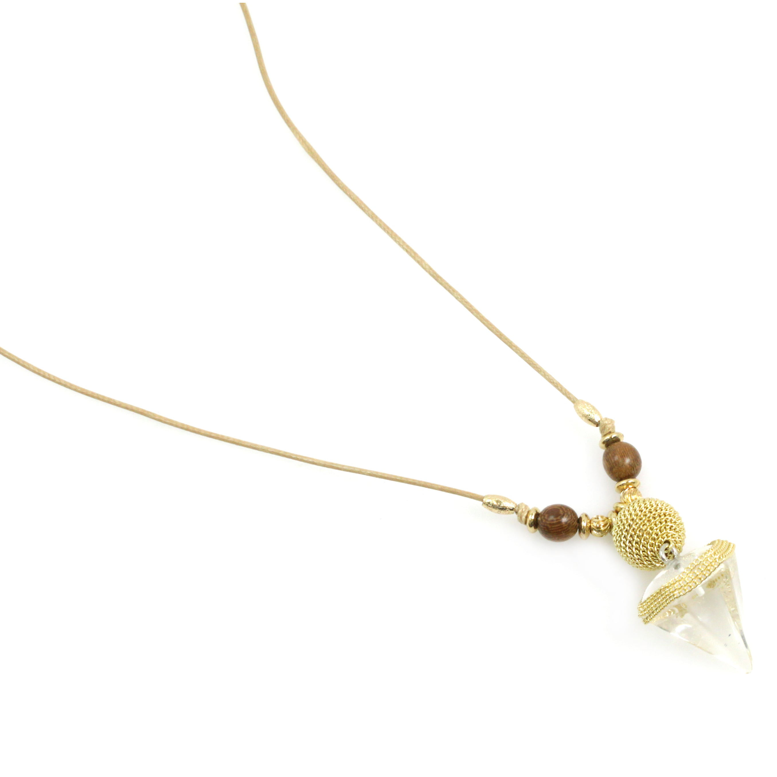 Semi Precious Natural Gemstone Pendant Long Necklace