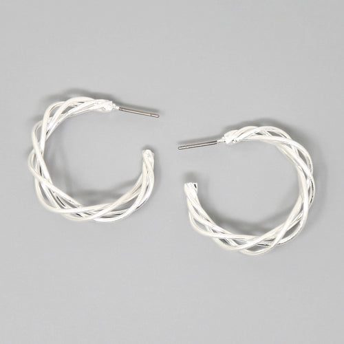 Braided Triple Wire Hoop Earrings