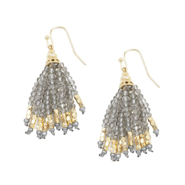 Mini Seed Beads Tassel Earrings