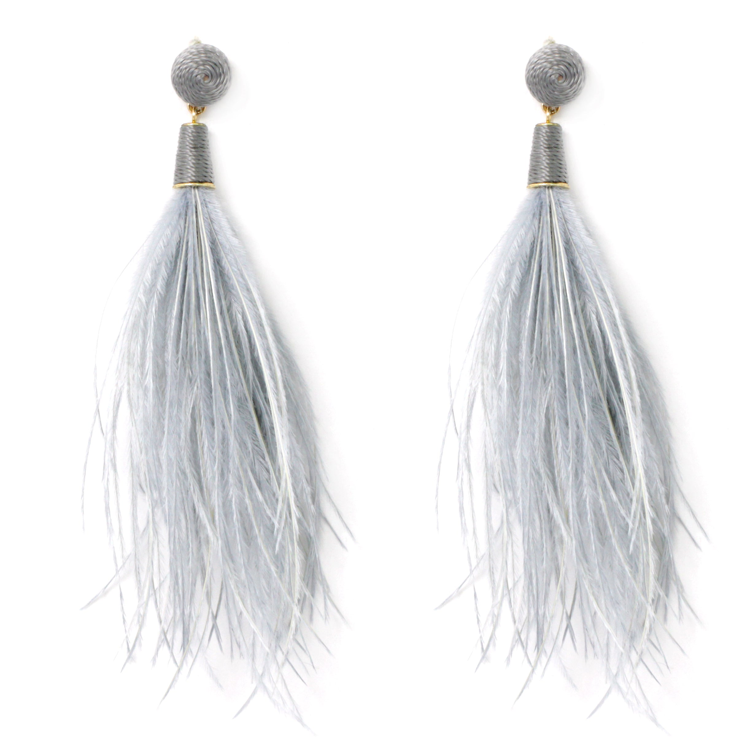 fashion products earrings detailed fringe dsc lush lounge black