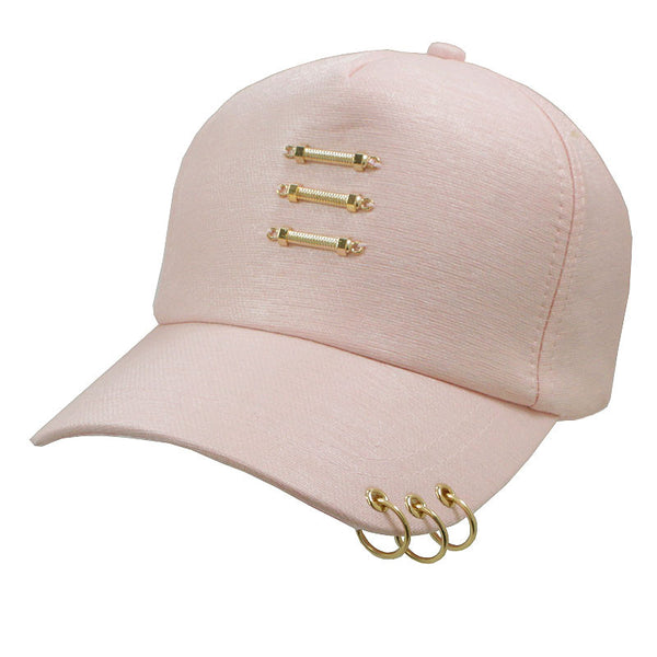 Unisex Snapback Ring Hip-Hop Hats Embroidery Cotton Blend Baseball Cap
