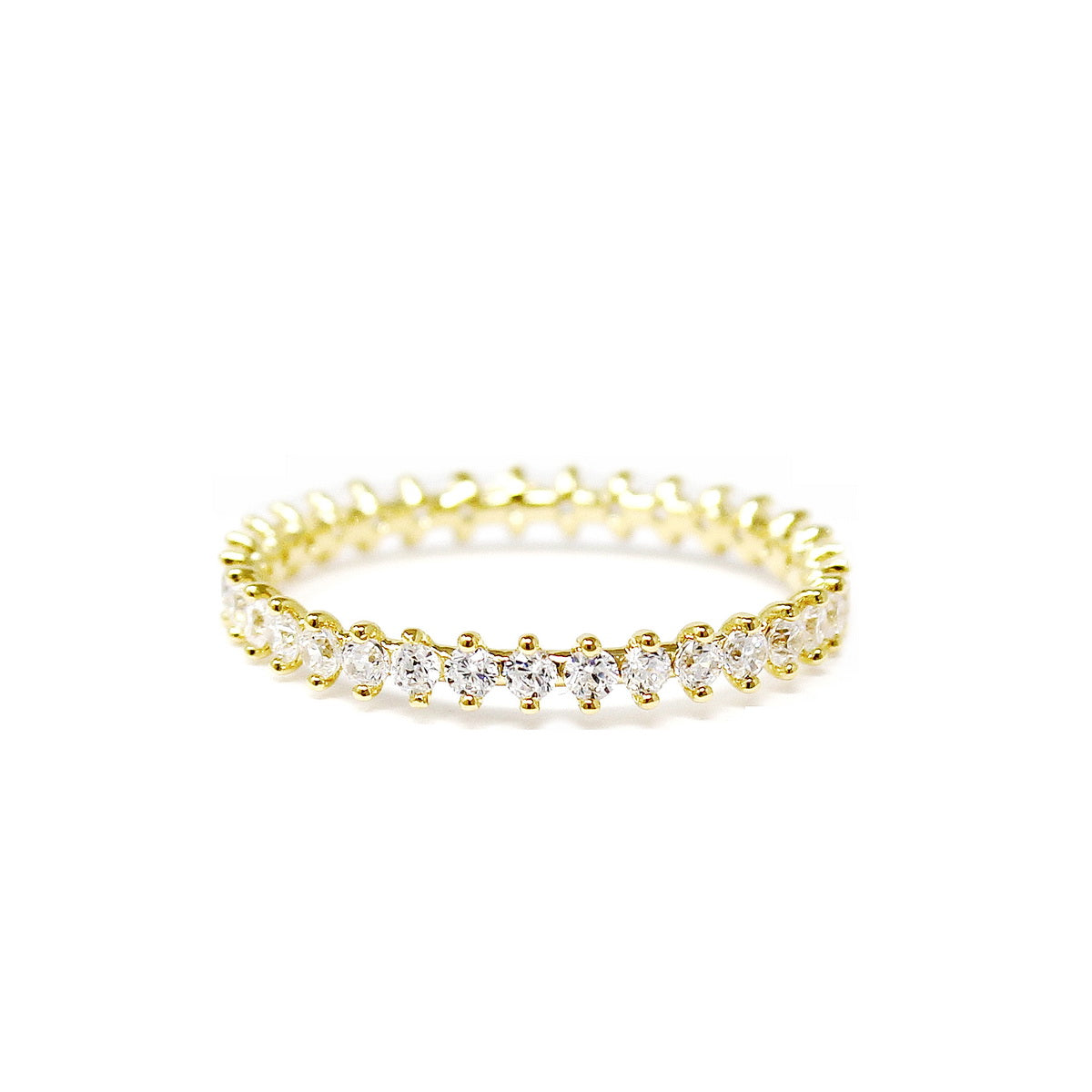 Delicate CZ Pave Ring