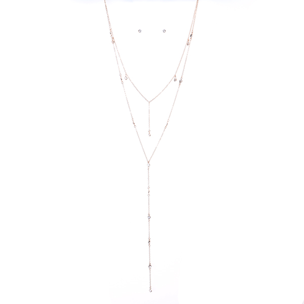 Sleek Y Shape Long Necklace