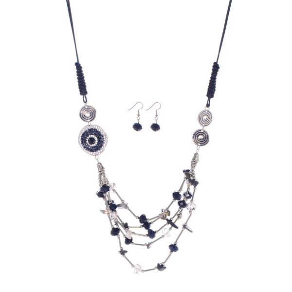 Multi Layered Glass Beads Necklace