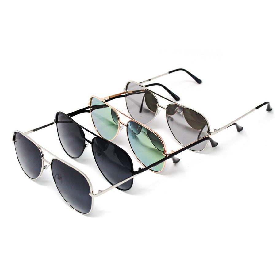 Metal Frame Assorted Fashion Sunglasses (12 Pieces)