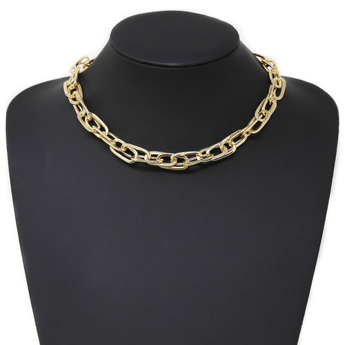 Linked Chain Short Collar Necklace