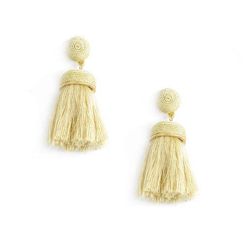 Thread Ball Thread Tassels Earrings